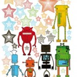 Vinilos decorativos de robots