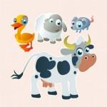Animales de Granja para los 3 o los 4 años