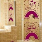 Curioso vinilo decorativo con elefantes, ideal para cristales