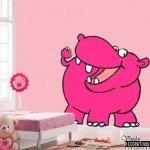La Señora Hipopótama en la pared, un vinilo muy divertido