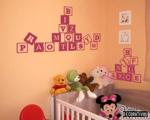 Vinilo decorativo abecedario vinilos decorativos for Decoracion de vinilos para dormitorios