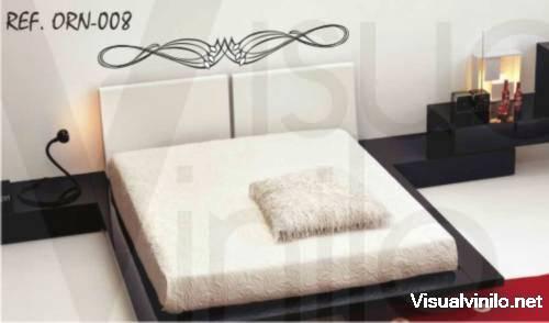Vinilo decorativo clasico de dormitorio vinilos decorativos - Vinilos para cabeceros de cama ...
