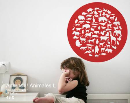 Vinilo Decorativo para aprender animales