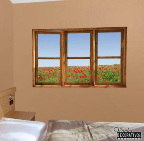 Ventana adhesiva para dormitorios vinilos decorativos - Vinilos para pared de dormitorio ...