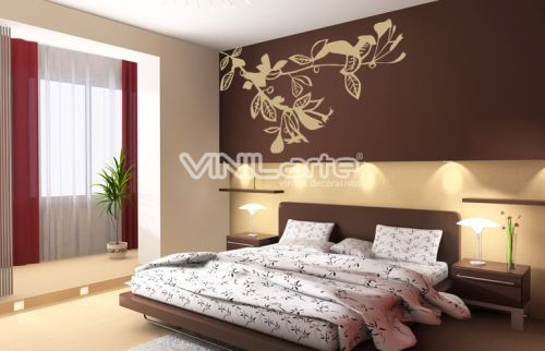 Vinilo decorativo clasico de dormitorio vinilos decorativos for Vinilos pared dormitorio