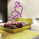 Bosquejo con la figura femenina para el dormitorio