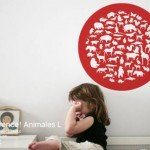 Un vinilo decorativo útil para aprender animales