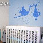 Ternura en un vinilo decorativo para el recién nacido