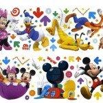 Los personajes de Disney para pegar en la habitación