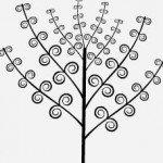 Sencillo y atrapante, un árbol decorativo adhesivo