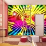 Ultracolorido, psicodélico para el dormitorio o sala de estar