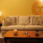 Un vinilo decorativo con un hermoso sol para ambientes artesanales