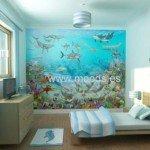 Fotomural marino decorando el cuarto