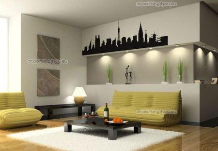 Vinilos decorativos siluetas adhesivas de ciudades for Vinilos pared ciudades