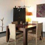 Varas de bambú para ambientes de diseño leve