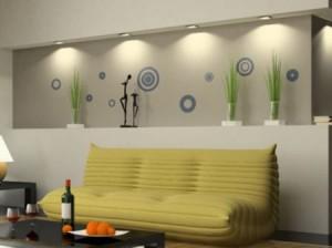 Vinilos decorativos circulos pop vinilos decorativos for Vinilos pared pasillo
