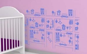 vinilo decorativo ciudad infantil