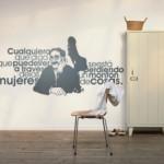Una frase de Groucho Marx en la pared