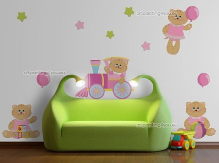 Vinilos decorativos ositos vinilos decorativos for Vinilo para habitacion de bebe
