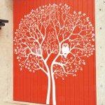 Precioso el árbol con Lechuza adhesivo