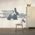Una frase de Groucho Marx en la pared
