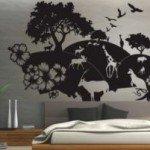 Fauna, naturaleza salvaje en el dormitorio