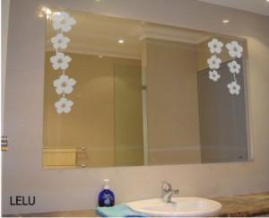 Pegatinas decorativas para espejos materiales para la - Pegatinas decorativas para banos ...
