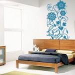 Bonito adhesivo para la pared con flores verticales