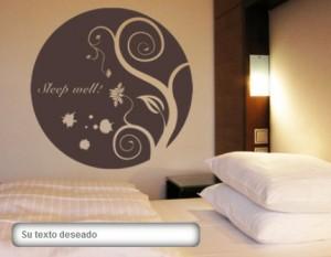 Vinilo decorativo cabecero de cama simbolico vinilos for Vinilos pared dormitorio matrimonio