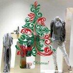 Hermoso árbol de Navidad Adhesivo