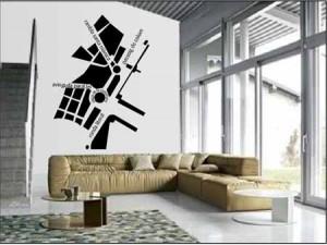 Vinilo decorativo mapa de barcelona vinilos decorativos - Vinilo para la pared ...