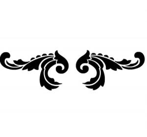Vinilo decorativo simetrico ornamental vinilos decorativos for Guardas decorativas para cocina