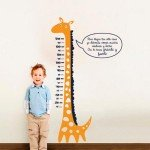 "Mide a tu peque con este vinilo medidor ""Girafa"""