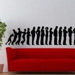 Vinilo Decorativo fila de gente