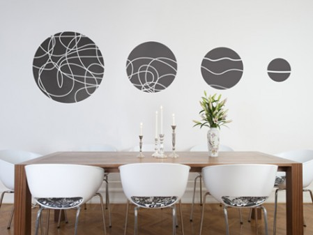 conjunto de vinilos decorativos para salón comedor « Vinilos decorativos