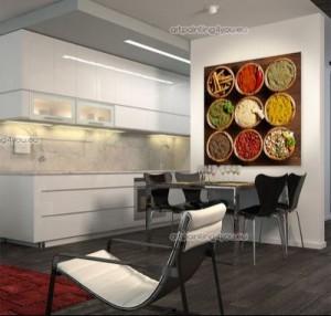Vinilo decorativo especias para la cocina vinilos for Fotomurales para cocinas
