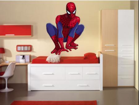 Vinilo decorativo spiderman vinilos decorativos for Cuartos decorados hombre arana