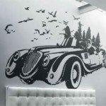 Un gran auto clásico en tu sala de estar