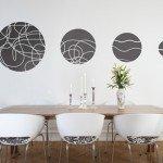 Elegantes círculos para la sala