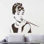Vinilo de cine con Audrey Hepburn