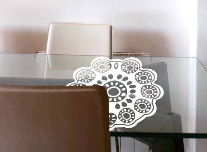 Vinilo decorativo tapete de ganchillo vinilos decorativos - Vinilos para mesas ...
