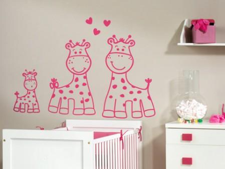 Jirafas para decorar imagui - Vinilo para la pared ...