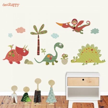 Vinilo decorativo infantil de dinosaurios vinilos - Dibujos para paredes de bebes ...