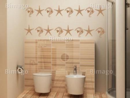 Vinilo del mar para el ba o vinilos decorativos for Vinilos adhesivos para paredes de banos