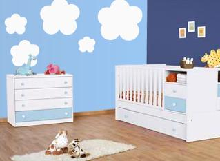 Vinilo decorativo nubes vinilos decorativos - Vinilos para habitacion bebe ...