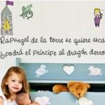 Vinilo infantil de Rapunzel