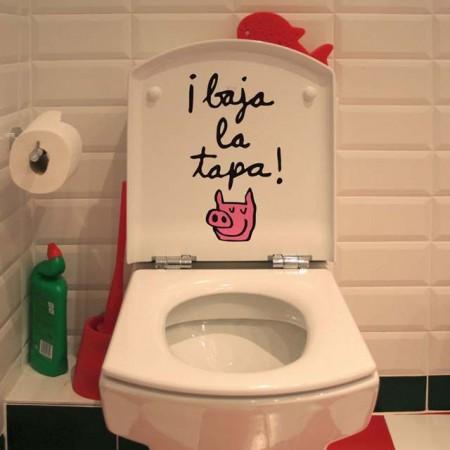 Vinilo para la tapa del wc vinilos decorativos - Vinilo para el bano ...