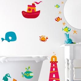 Vinilo decorativo ba o infantil vinilos decorativos for Vinilos para cuartos de bano