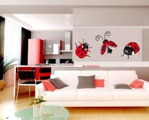 Vinilo decorativo de insectos graciosos vinilos decorativos for Vinilos autoadhesivos para paredes interiores