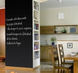 Vinilo decorativo pizarra para paredes vinilos decorativos - Vinilo pizarra cocina ...